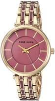 Anne Klein Women's AK/3010MVGB Gold-Tone and Mauve Bracelet Watch