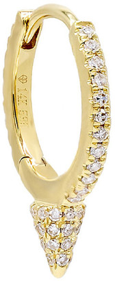 Adina's Jewels 14k Gold Diamond Spike Huggie Single Earring