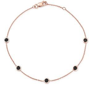 Bloomingdale's 14K Rose Gold & Black Diamond Station Bracelet - 100% Exclusive