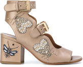 Laurence Dacade beaded insect sandals - women - Cotton/Leather/Polyester - 36