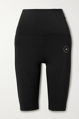 adidas by Stella McCartney Truepurpose Perforated Stretch Shorts - Black