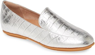 FitFlop Lena Croc Embossed Loafer
