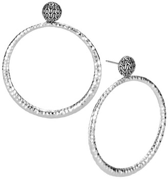 John Hardy Classic Chain Hammered Sterling Silver Hoop Earrings