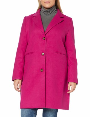 Yumi Women's Pink Crombie Coat with Heart Lining 10