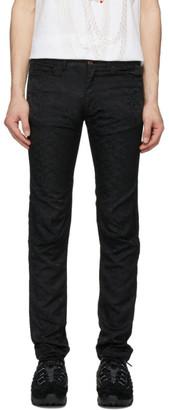 Comme des Garçons Homme Plus Black Jacquard Camo Trousers