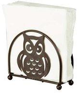 Home Basics Napkin Holder, Bronze with Owl Design