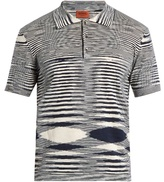 Missoni Faded-stripe Cotton-jersey Polo Shirt