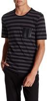 The Kooples Short Sleeve Striped Crewneck Shirt