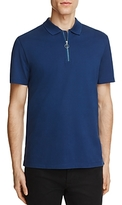Vince Pique Zip Placket Slim Fit Polo Shirt
