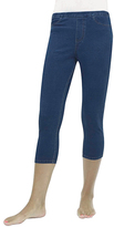 Me Moi Medium Wash Denim Capri Jeggings