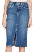Lauren Ralph Lauren Stretch Denim Pencil Skirt