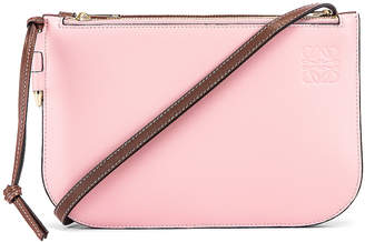 Loewe Double Zip Gate Pouch in Wine & Pastel Pink | FWRD