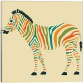 iCanvas Zebra by Jazzberry Blue (Giclee Canvas)