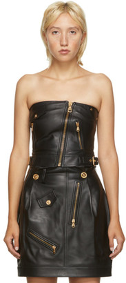 Versace Black Leather Corset