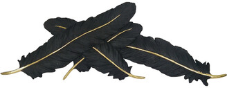Sagebrook Home Black/Gold Feathers Wall Decor