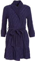 Juicy Couture Muse Blue Logo Ruffle Robe