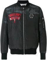 Philipp Plein Chojiro bomber jacket - men - Cotton/Polyester/Polyurethane/Spandex/Elastane - S