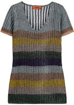 Missoni Striped Metallic Knitted Top - Silver