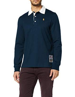 Izod Men's Solid Longsleeve Rugby Polo Shirt,Medium (Size: MD)