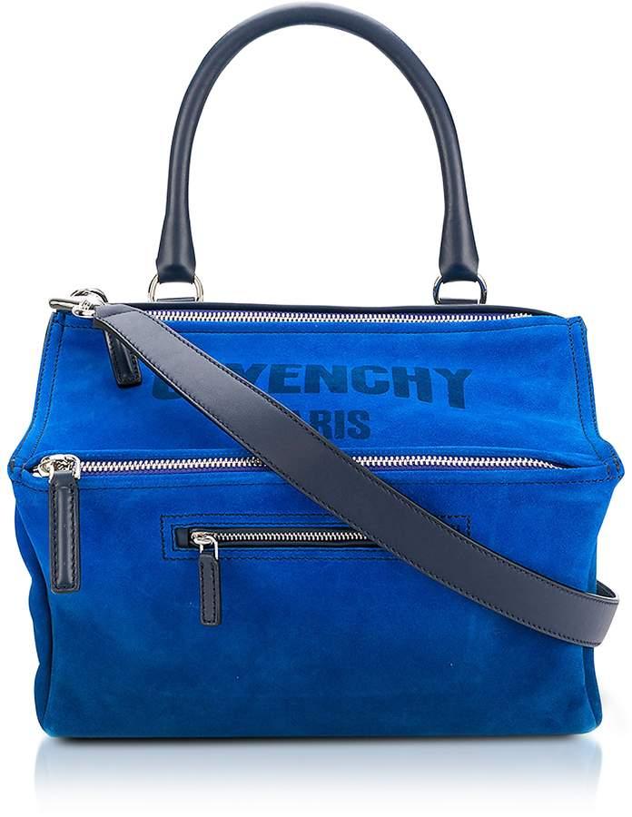 Givenchy Blue Leather Pandora Crossbody Bag