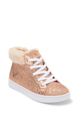 Juicy Couture Westale Faux Fur Trim Sneaker (Toddler, Little Kid, & Big Kid)