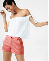 Express self-tie off the shoulder tee