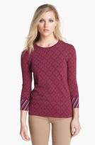 Tory Burch 'Lacey' Cotton Tee