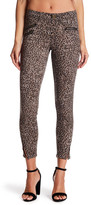 Jolt Leopard Print Ponte Stretch Knit Pants