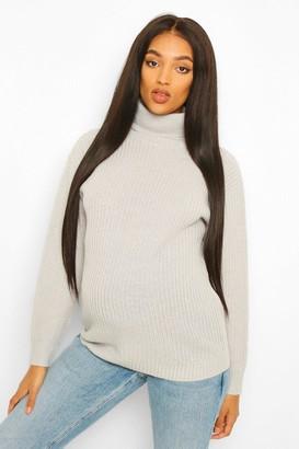 boohoo Maternity Roll Neck Sweater
