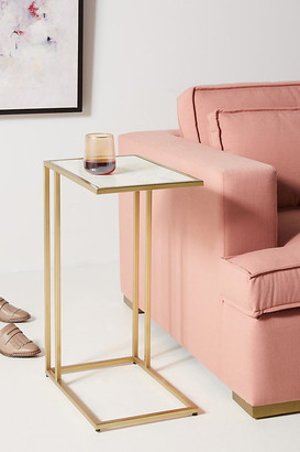 Anthropologie Charlize C-Shaped Side Table By in Gold Size ALL