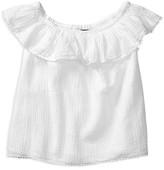 Ralph Lauren Girls' Ruffle Top - Sizes 7-16