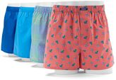 Izod Men's Beach 4-Pack Woven Boxers