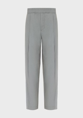 Emporio Armani Garment-Dyed, Lightweight Cotton Trousers