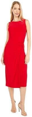 Lauren Ralph Lauren Kava Sleeveless Day Dress (Orient Red) Women's Dress
