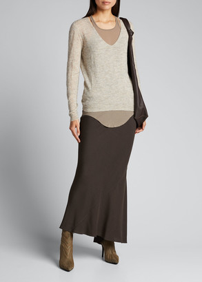 Rick Owens Viscose Calf-Length Skirt