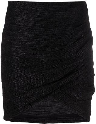 IRO Plisse-Effect Skirt