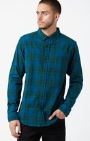 Ezekiel Swamper Plaid Flannel Long Sleeve Button Up Shirt