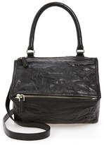 Givenchy 'Small Pepe Pandora' Leather Shoulder Bag - Black