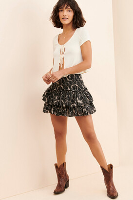 Urban Outfitters Fiona Tiered Ruffle Mini Skirt