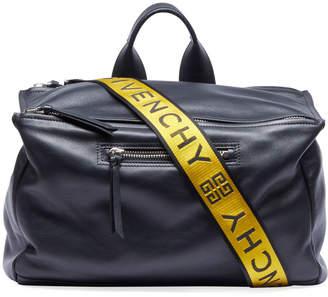 Givenchy Leather Duffel Bag w/ Logo Webbing Strap