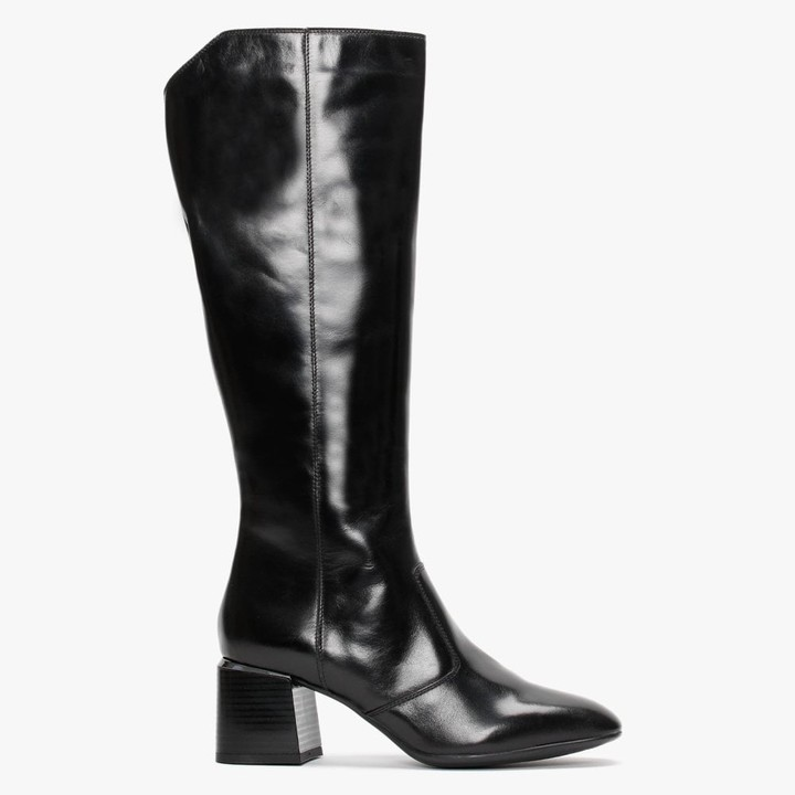 Daniel Labby Black Leather Knee Boots