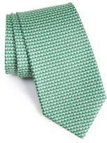Salvatore Ferragamo Men's Heart Print Silk Tie