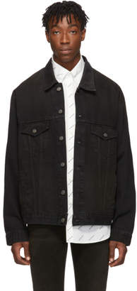 Balenciaga Black Denim Signature Big Fit Jacket