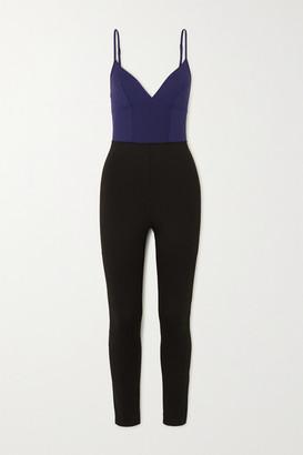 Ernest Leoty Ilona Two-tone Stretch Bodysuit - Navy