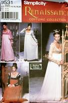 Simplicity Pattern 9531 Renaissance Costume Collection Size Rr 1420