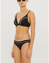 Jets Contrast piping triangle bikini top