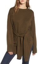 J.o.a. Women's Tie Front Sweater