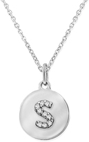 KC Designs Diamond and White Gold Lowercase Initial Disc Pendant Necklace