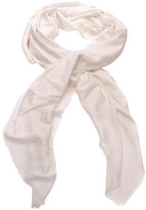Gucci White Silk Scarves