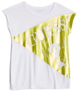 GUESS Big Girls Foil Logo Short Sleeve Tee